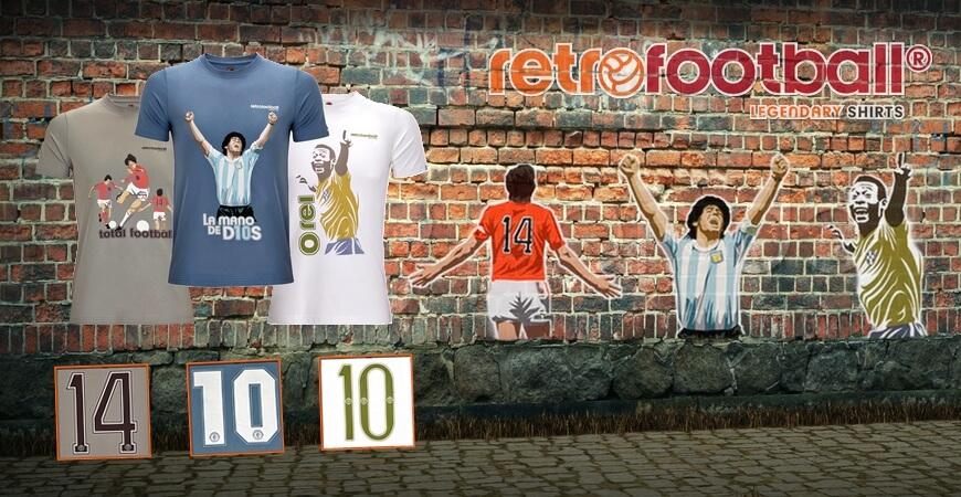 bf54763d57 Retro football shirts