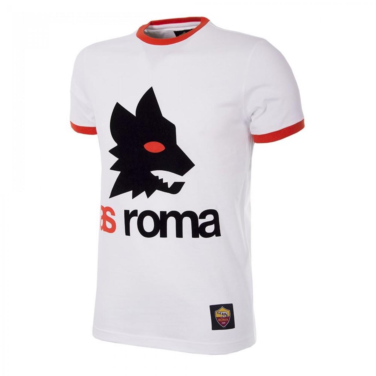 COPA Mens As Roma Black Out Retro Logo Sweater Black Out Retro Logo Sweater