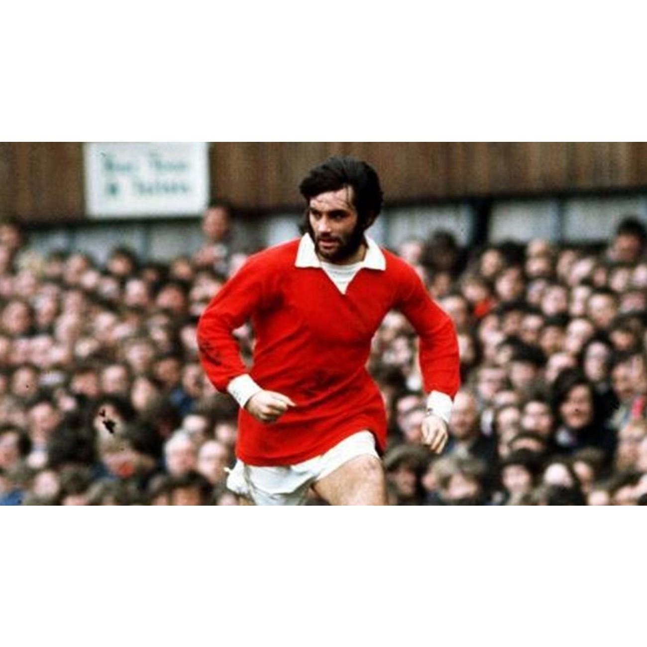 Manchester United 70 s retro shirt worn by Best