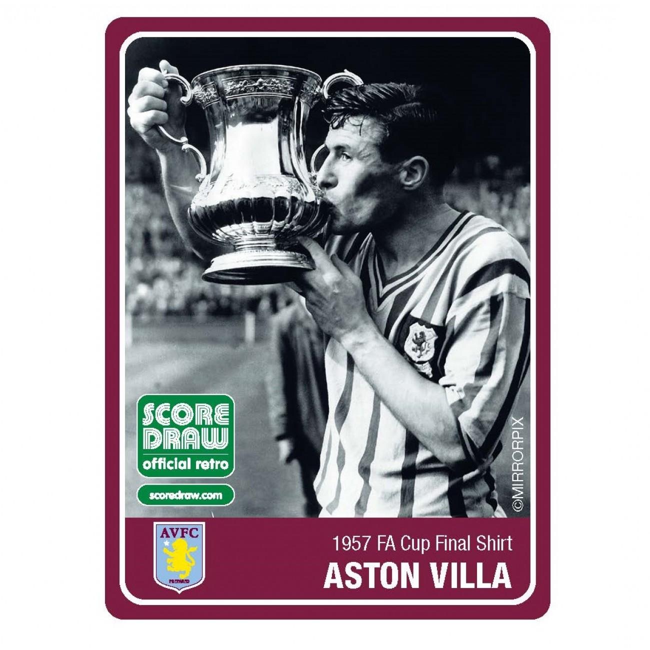 239580a1f Aston Villa Retro Shirt 1957. Reference  VILLA57AFACFSS  Brand  Score Draw  ...