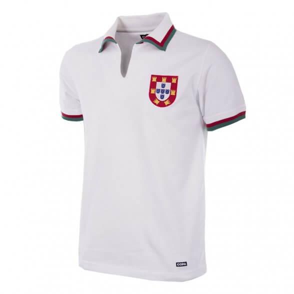 Eusebio Portugal Retro Football Shirt White