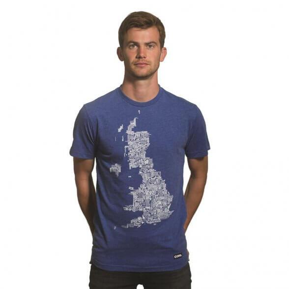 UK Grounds T-Shirt | Blue Mêlée
