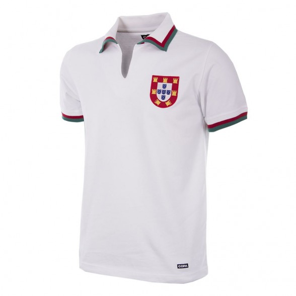Eusebio Portugal Retro Football Shirt White