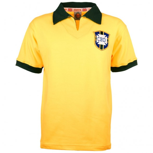 040e34f99 Brazil 1960 s classic soccer jersey worn in Chile 1962 World Cup ...