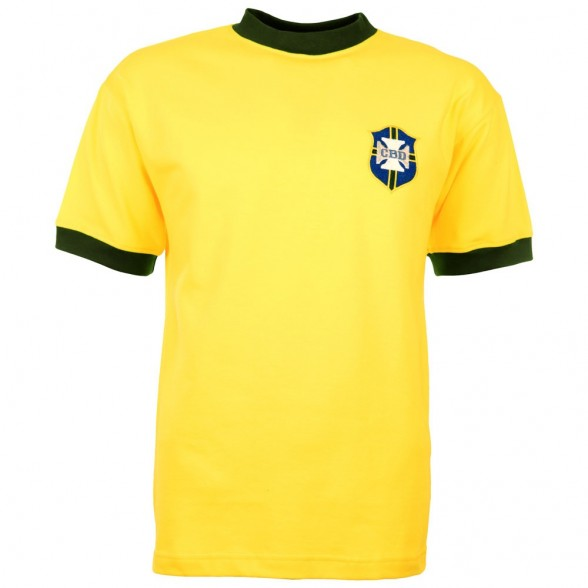 Brazil 1970 World Cup Retro Shirt - O rei Pele