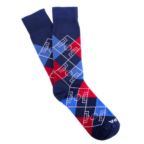 Argyle Pitch / Navy Blue - Red - Blue - White
