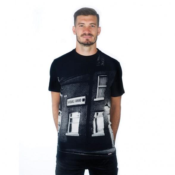 Football Ground Sign T-Shirt | Black