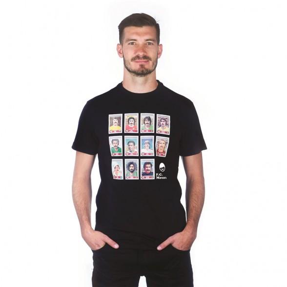 Moustache Dream Team T-Shirt   Black