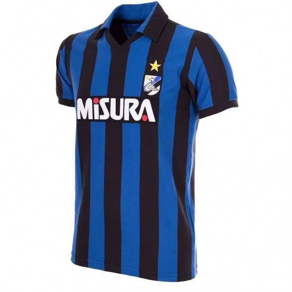 F.C. Internazionale 1986-87 Short Sleeve Retro Football Shirt