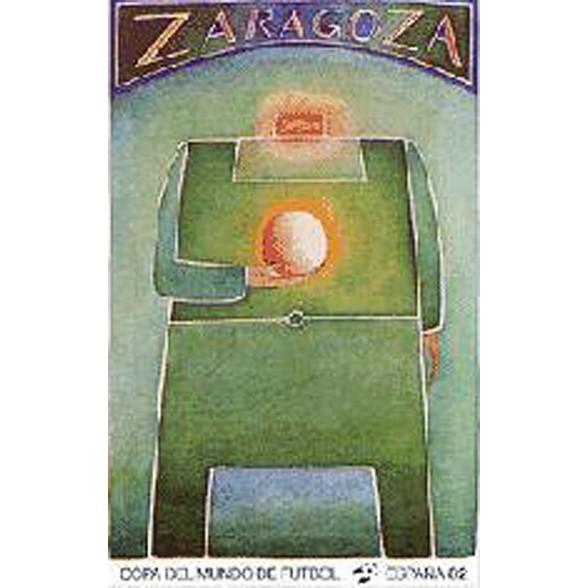 Cartel Oficial de Zaragoza - El Dios del Estadio de Folon