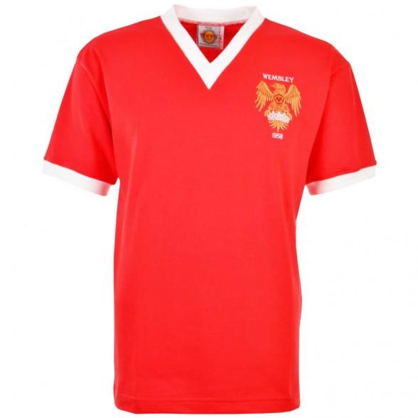 Manchester United 1958 FA Cup Final football shirt