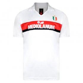 AC Milan retro white shirt Van Basten Gullit Champions 1989