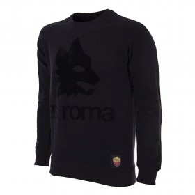 AS Roma Black Out Retro Logo Sweater