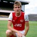 Stewart Robson wearing Arsenal 1985 centenary shirt