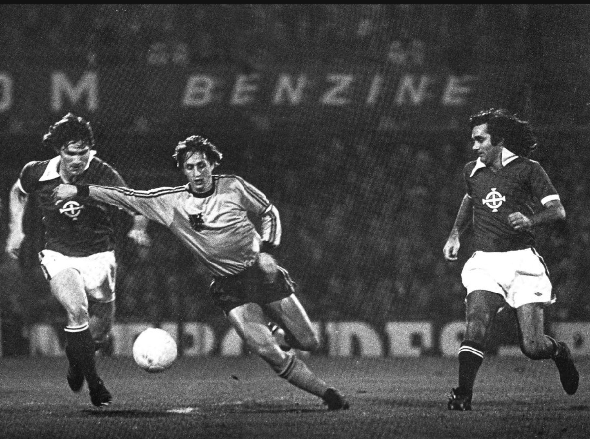 George Best Johan Cruyff 1976