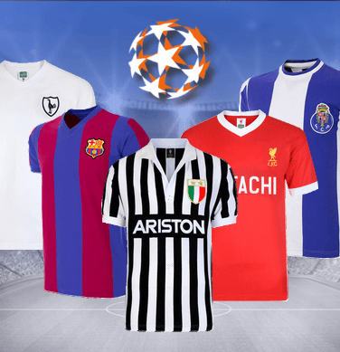 d0092c785 Champions League Retro Shirts